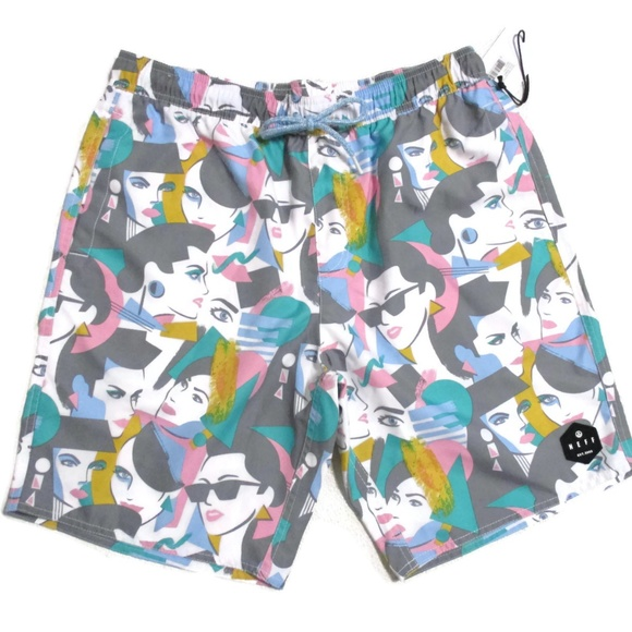 177a3a5cd997a Neff Swim | Headwear Hot Tub Board Shorts Trunks Med | Poshmark